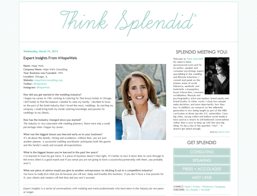 Expert Insights from @HopeWeis on ThinkSplendid.com