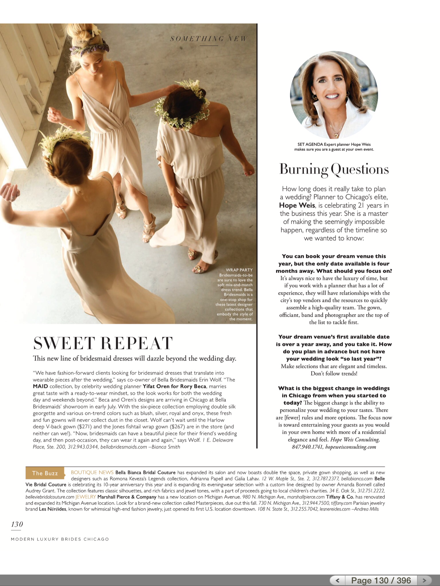 Modern Luxury Brides Chicago - Burning Questions