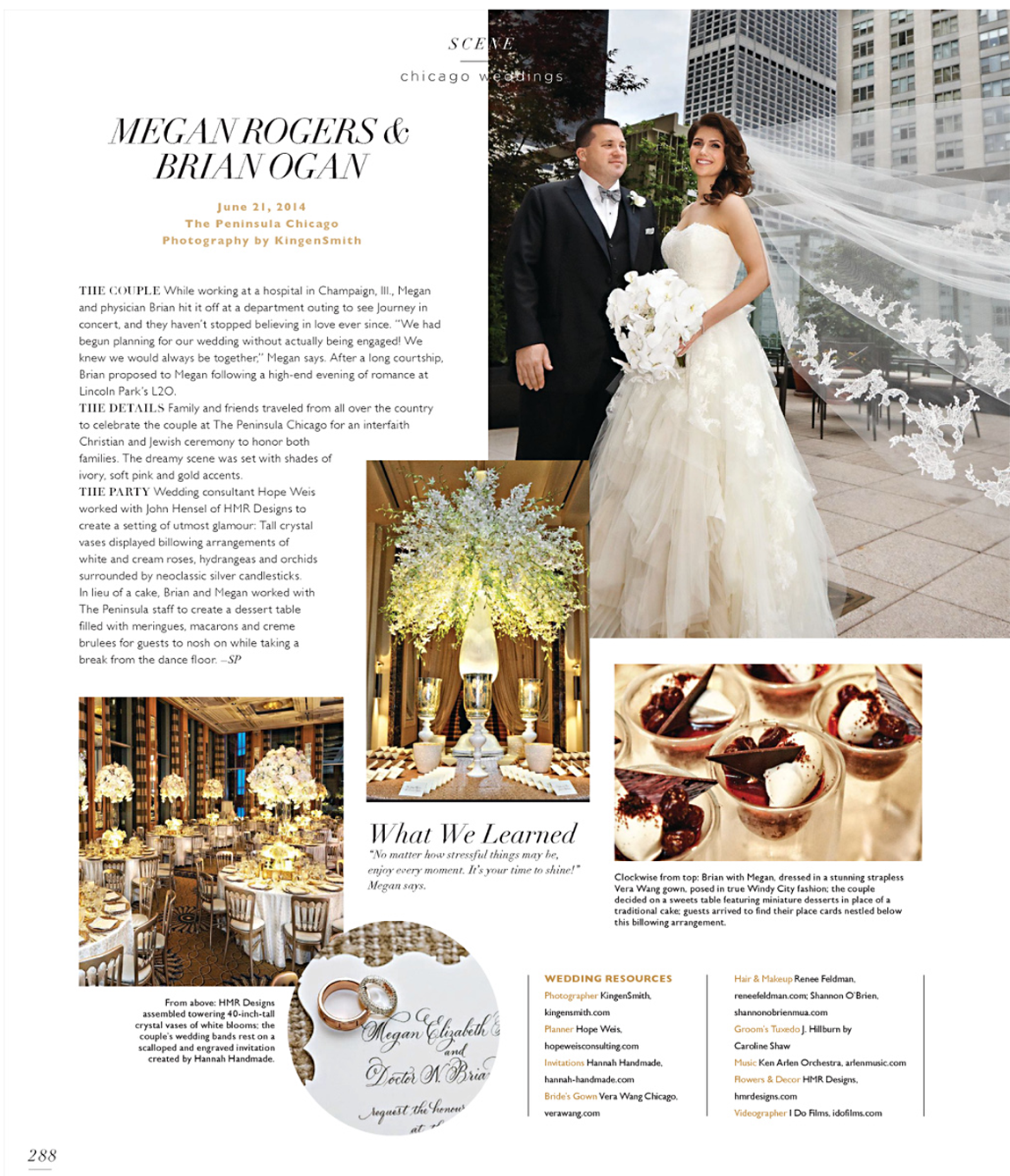 Megan and Brian - Modern Luxury Brides Chicago July 2015