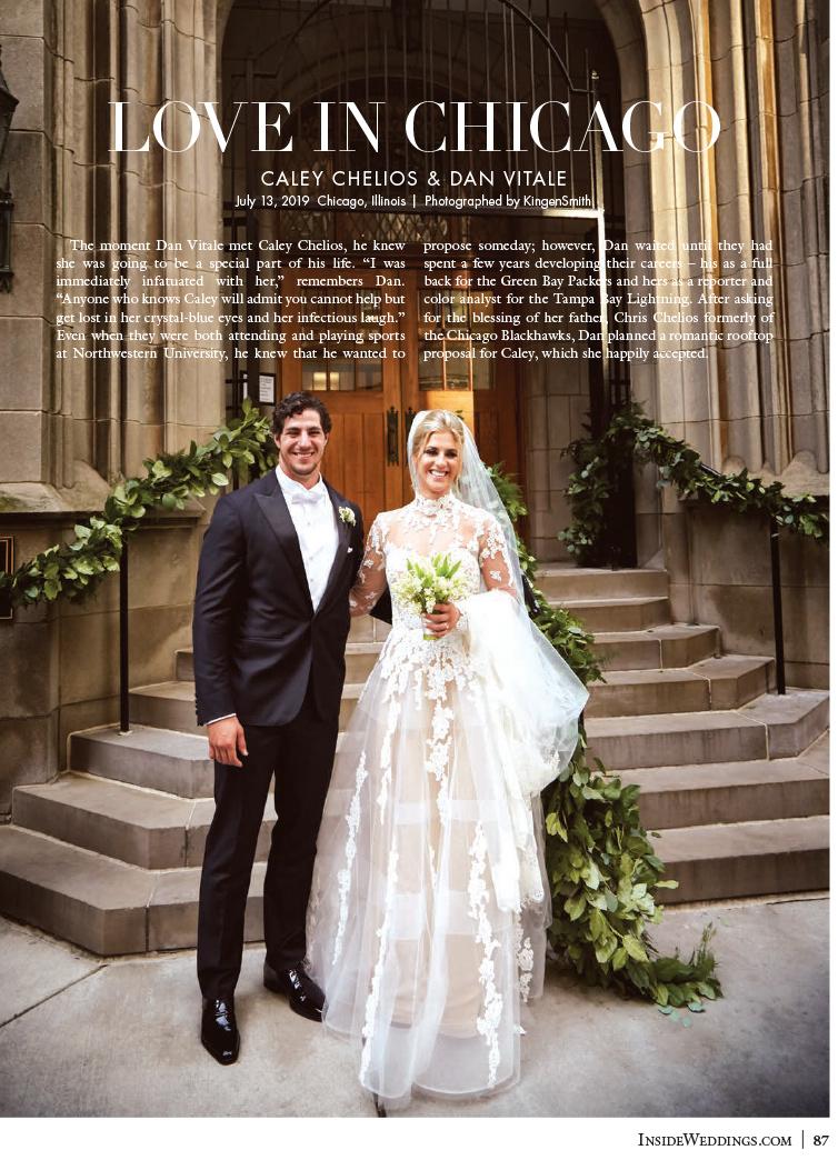 Inside Weddings – Love in Chicago – Caley Chelios and Dan Vitale